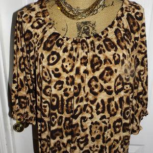 Leopard Print Loose Top